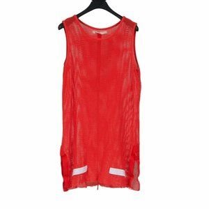 SS14 Red Mesh Overlong Breathable Tank Top